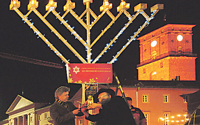 Chanukah celebrations in Karlsruhe, south-west Germany