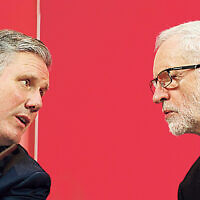 Sir Keir Starmer (left) alongside former Labour Party leader Jeremy Corbyn