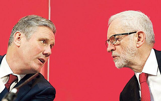 Sir Keir Starmer (left) alongside former Labour Party leader Jeremy Corbyn