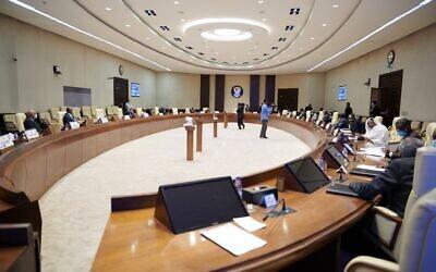Sudan's cabinet meeting on Tuesdayd (Photo: @SudanPMO/Twitter)
