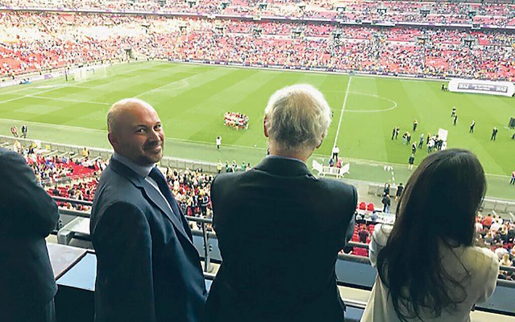 Adrian Jacob (left) at Wembley Stadium.