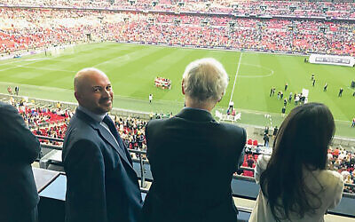 Adrian Jacob (left) at Wembley Stadium.