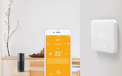 TadoWireless Smart Thermostat linked to an Amazon Echo