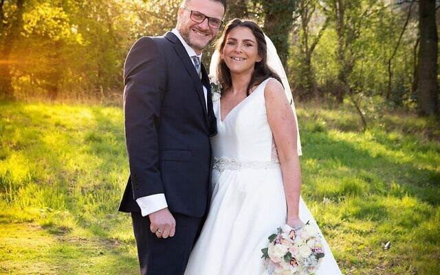 Phil and Emma Lewis tied the knot on Monday at a small ceremony at Woodford Forest United Synagogue