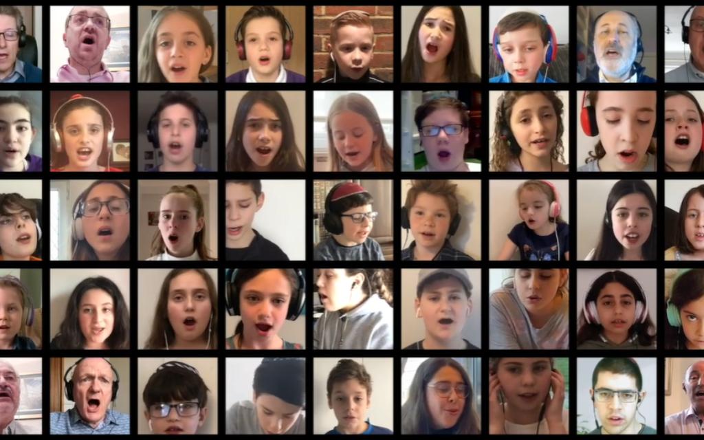 Virtual choir sings during the Yom HaShoah ceremony