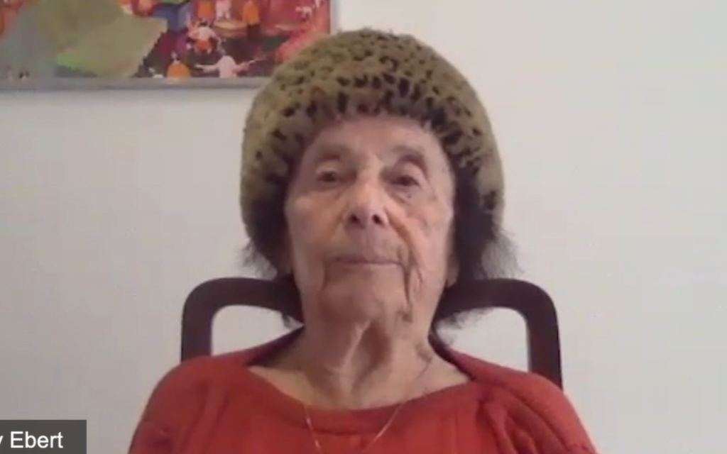 Lily Ebert speaking on Yom HaShoah