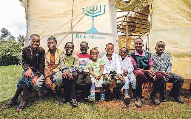 Children of the Kasuku Jewish community in Kenya