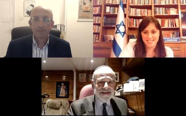 Ambassador Tzipi Hotovely and Senior Rabbi Jonathan Wittenberg took part in Wednesday's event (Photo: Masorti Judaism)