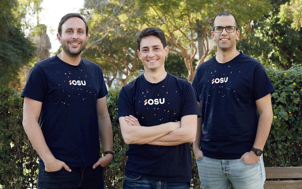 Osu founders (L-R) Daniel Scott, Noam Nevo and Alon Zion