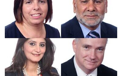 Cllrs in Peterborough: Samantha Hemraj,  Ansar Ali, Shabina Qayyum and Angus Ellis