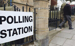 Polling station on election day