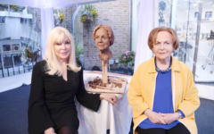 Frances, Mala and the sculpture (Image: Sophie Dunne)