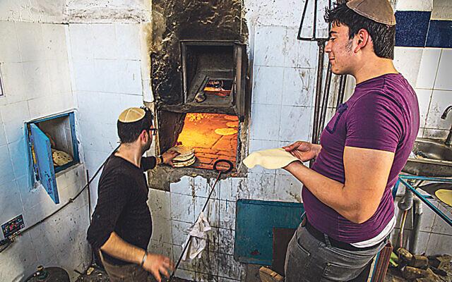 Matzah bakery, Hara Kebira, in Djerba, Tunisia