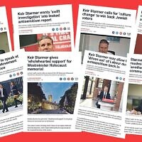 Some of the headlines from the first 12 months of Keir Starmer's leadership