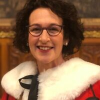 Gillian in her House of Lords garb