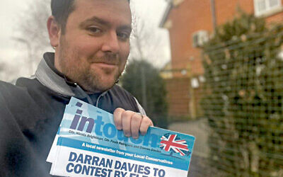 Darran Davies is contesting a by-election in Hillingdon