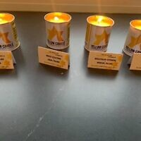Debra's friend Karen posted a photo of the yellow candles online - without knowing one of them was in memory of Debra's aunt (left)