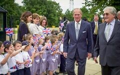 Prince Philip at Hertsmere Jewish Primary (Credit: David Katz)