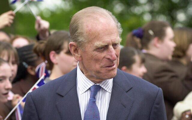 Prince Philip at Hertsmere Jewish Primary (Credit: David Katz)