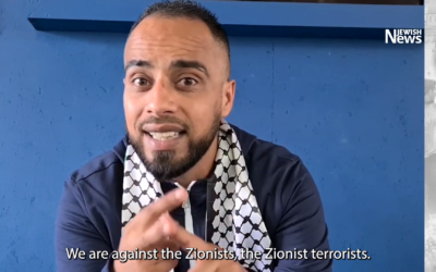Screenshot from the Convoy to Palestine video