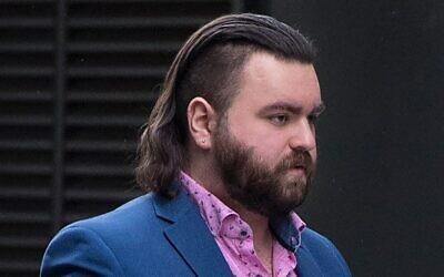 Andrew Dymock outside court.