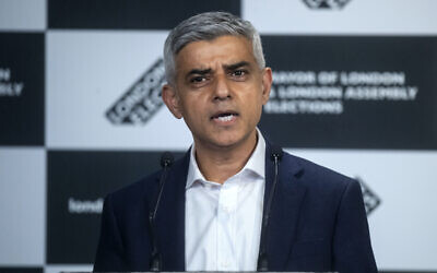 Labour's Sadiq Khan speaks after he was declared as the next Mayor of London at City Hall, London. Picture date: Saturday May 8, 2021.