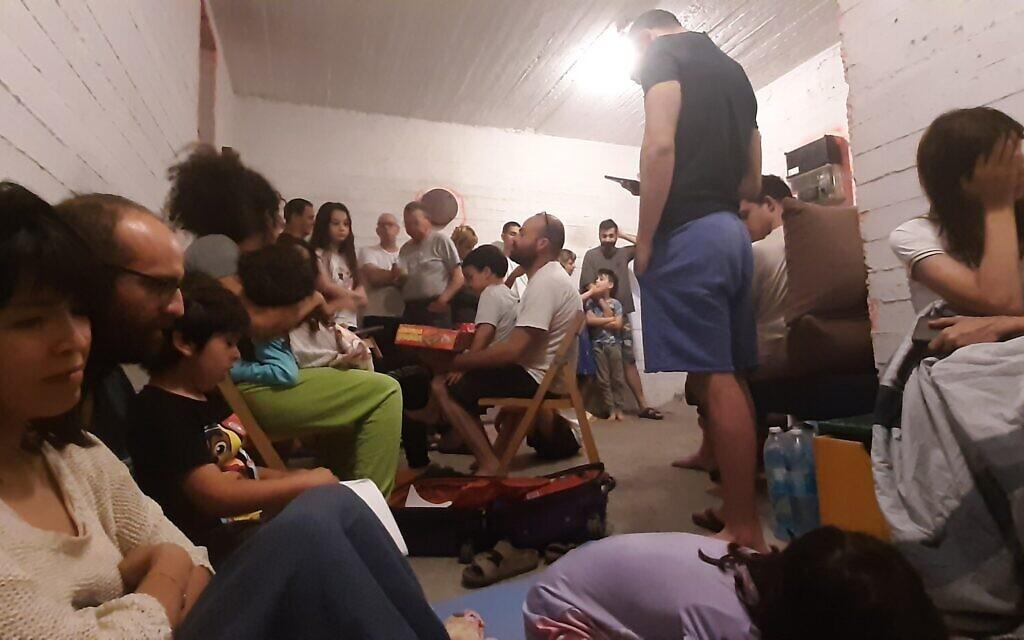 Inside the bomb shelter