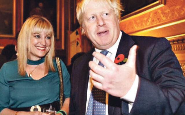 Marie van der Zyl, pictured with Boris Johnson