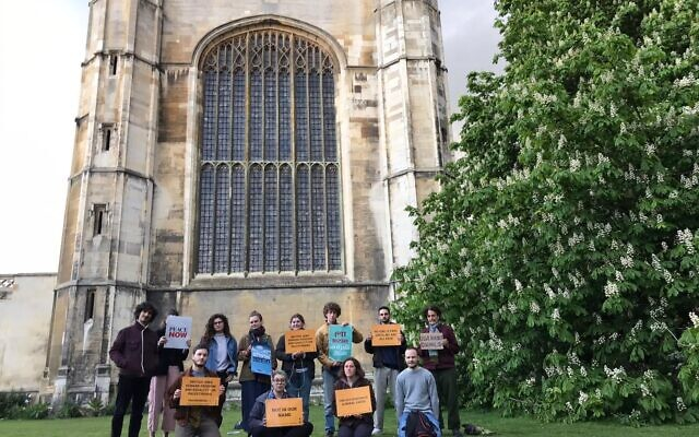 Na'amod protest in Cambridge