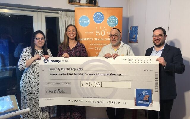 University Jewish Chaplaincy raised more than £700,000 in its 'Step up for Students' appeal