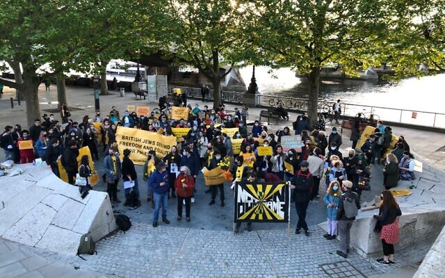 Na'amod protest in London