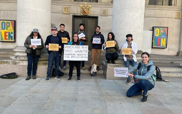 Na'amod protest in Manchester