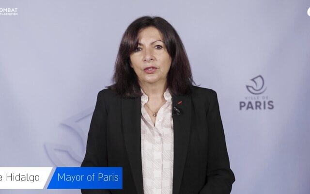Anne Hidalgo, mayor of Paris, was among the speakers at the event (Photo: Crif)