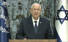 Israel's President Reuven Rivlin made the announcement in a televised address on Wednesday evening (Photo: GPO)