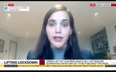 Sharon Ehrlich Bershadsky (Screenshot from Sky News)