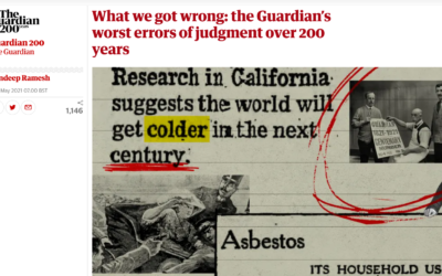 The article, which surveyed previous editorials, was published on Friday (Image: The Guardian / Screenshot)