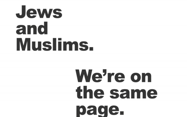 A full page ad is running in several leading British papers today condemning hate against Jews and Muslims