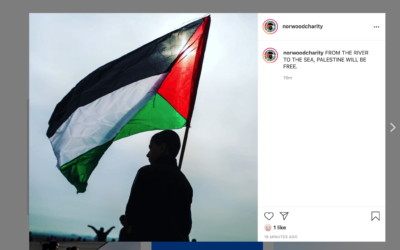 """Norwood's Instagram account was hacked with a Palestinian flag posted, including the phrase: """"From the river to the sea Palestine will be free"""""""