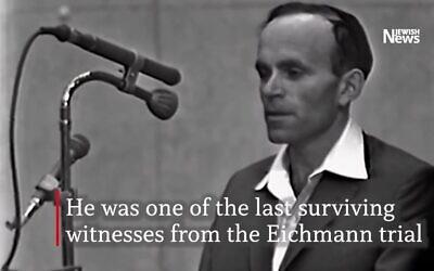 Yosef Kleinman pictured during the 1961 Eichmann trial (Photo: Yad Vashem)