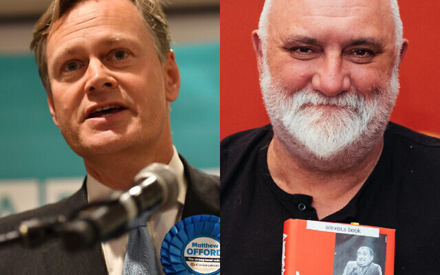 Matthew Offord .(Photo credit: Jacob King/PA Wire) and Alexei Sayle (Wikipedia/ Source: https://www.flickr.com/photos/chrisboland/33474375101/ AuthorChris Boland/ (www.chrisboland.com)  Attribution-ShareAlike 2.0 Generic (CC BY-SA 2.0))