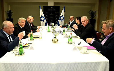 The eight party leaders met for the first time on Sunday (Photo: Twitter)