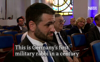 Zsolt Balla, Germany's first military rabbi in a century