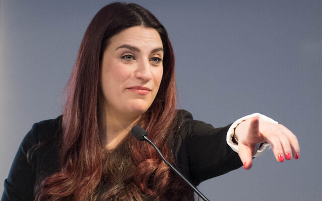Luciana Berger during a press conference at which she announced her resignation from the Labour Party. (Photo credit: Stefan Rousseau/PA Wire)