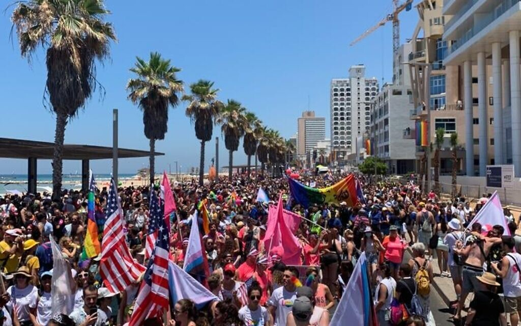 Thousands took to the streets of Tel Aviv to celebrate Pride (Image: UK in Israel)