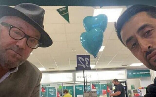 George Galloway tweeted this image of him and Cheema at a Morrisons supermarket in West Yorkshire earlier this month.
