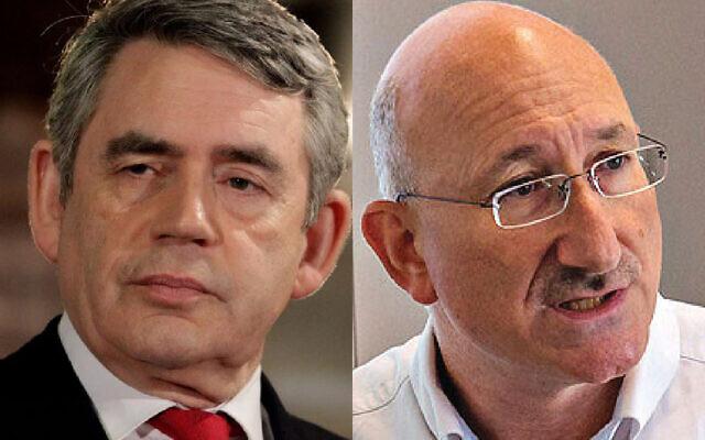 Former PM Gordon Brown and David Cesarani