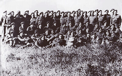 The only photo of the full X Troop with dog mascot (courtesy of Masters Family Collection)