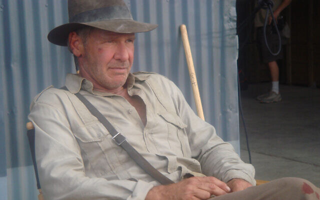 Harrison Ford pictured on set of Indiana Jones and the Kingdom of the Crystal Skull (2008)