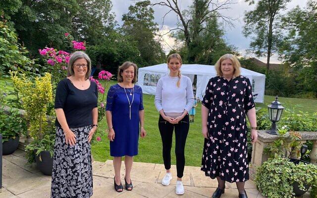 L-R Mrs Bendon, Louise Dorling, Rachel Riley and Mrs Buller