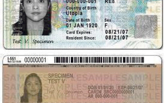 A permanent resident's card